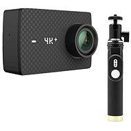 YI 4K + Action Camera Black + YI Selfie Stick & YI Bluetooth Remote - Digital Camcorder