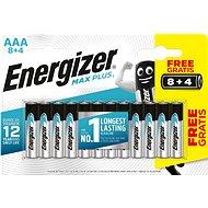 Jednorázová baterie Energizer MAX Plus AAA 8 + 4 ks zdarma