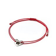 "Heart Bracelet DOG ""Click and Feed"", red - Charity"