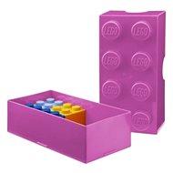 LEGO Box na svačinu 100 x 200 x 75 mm - růžový - Svačinový box