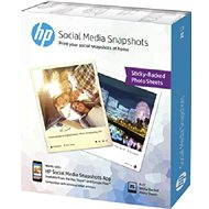 HP Social Media Snapshots Removable Sticky Photo Paper - Fotopapír