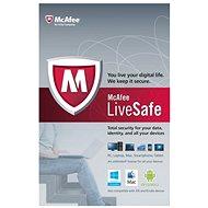 McAfee LiveSafe na 12 měsíců, všechny jazykové verze (elektronická licence) - Elektronická licence