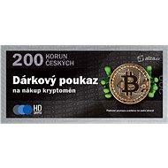 Elektronický poukaz na nákup kryptoměn v hodnotě 200 Kč - Poukaz
