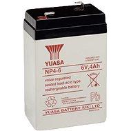 YUASA 6V 4Ah bezúdržbová olověná baterie NP4-6 - Nabíjecí baterie