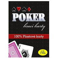 Poker - plastové karty, červené
