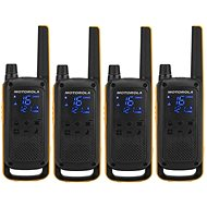 Motorola TLKR T82 Extreme, Quadpack, yellow/black - Walkie Talkie