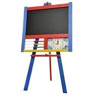 Kreslící tabule stojanová s počítadlem a hodinami barevná - Tabule