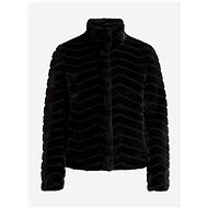 VILA Černá bunda z umělého kožíšku Aliba - Bunda