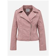 JACQUELINE DE YONG Pink Asymmetrical Suede Moto Jacket Peach - Jacket