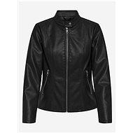 ONLY Black leatherette jacket with Melisa finish - Jacket