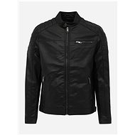 JACK & JONES Black Faux Leather Jacket Rocky - Jacket