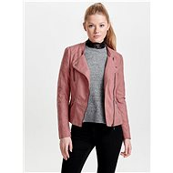 ONLY Old pink leatherette curved Ava - Jacket
