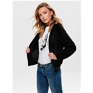 ONLY Black jacket with faux fur Anna - Jacket
