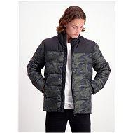 SHINE ORIGINAL Černo-zelená vzorovaná zimní bunda - Bunda