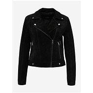 VERO MODA Black Asymmetrical Leather Moto Jacket Royce Salon - Jacket