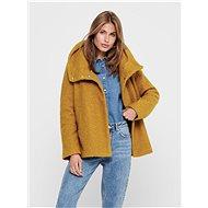 JACQUELINE DE YONG Hořčicový krátký kabát Sonya - Bunda