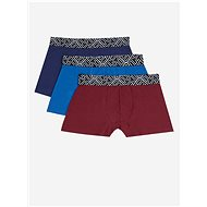 BURTON MENSWEAR LONDON Set of three boxers in burgundy and blue - Men's Boxers