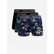 JACK & JONES Set of three boxers in blue and black Flower - Men's Boxers