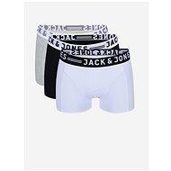 JACK & JONES Set of three boxers in gray, white and black Sense - Men's Boxers