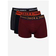 JACK & JONES Set of three boxers in gray, burgundy and dark blue Lichfield - Men's Boxers