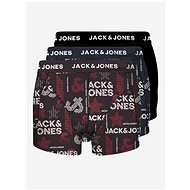 JACK & JONES Set of three patterned boxers in black, blue and burgundy Logo - Men's Boxers