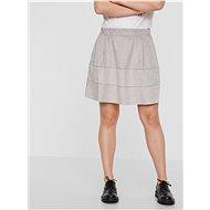 NOISY MAY Světle šedá sukně v semišové úpravě Lauren - Sukně
