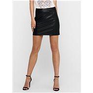JACQUELINE DE YONG Black leatherette skirt Theon - Skirt