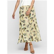JACQUELINE DE YONG Light yellow patterned maxi skirt Tianna - Skirt