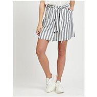 VILA Krémovo-šedá pruhovaná sukně Harper - Sukně
