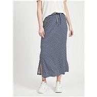 VILA Tmavě modrá pruhovaná basic maxi sukně Dell - Sukně