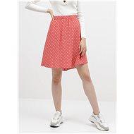 VILA Korálová puntíkovaná sukně Primera - Sukně