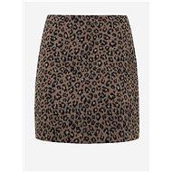 VILA Hnědá sukně s leopardím vzorem Junila - Sukně