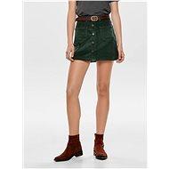 ONLY Zelená manšestrová sukně Amazing - Sukně