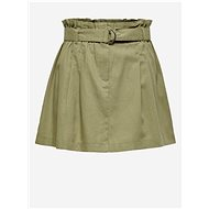 ONLY Green Skirt with a Mixture of Flax Nelda - Skirt