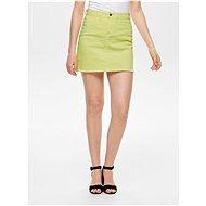 JACQUELINE DE YONG Yellow denim miniskirt with frayed Anica hem - Skirt