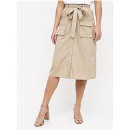 VILA Béžová sukně s kapsami Nyala - Sukně