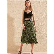 TRENDYOL Zelená sukně se zebřím vzorem - Sukně