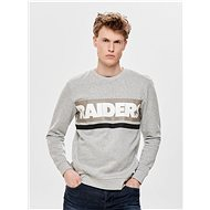 ONLY & SONS Light gray sweatshirt with print on the back Nfl - Sweatshirt