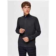 SELECTED HOMME Dark gray zip sweater - Jumper