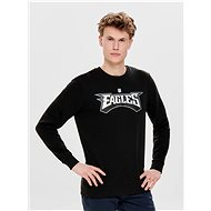 ONLY & SONS Black sweatshirt with print on the back Nfl - Sweatshirt