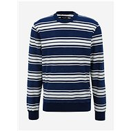 JACK & JONES Dark Blue Striped Sweatshirt Graham - Sweatshirt