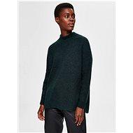 SELECTED FEMME Dark Green Wool Sweater Lulu - Jumper