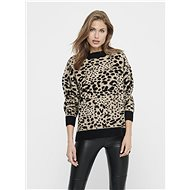 JACQUELINE DE YONG Beige sweater with leopard pattern Lian - Jumper