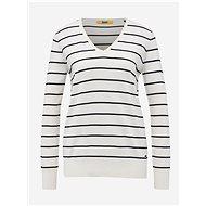ZOOT BASELINE White women's striped basic sweater Baseline Lea - Jumper