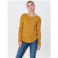 ONLY Mustard light sweater with a slit on the side of the Caviar - Jumper