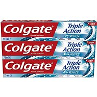COLGATE Triple Action White 3× 75 ml - Zubní pasta