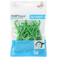 Mezizubní kartáček SOFTDENT Butterfly Dentální párátka, 50 ks barevná varianta