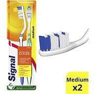 Zubní kartáček SIGNAL Antiplaque zubní kartáček středně  tvrdý 2 ks