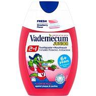VADEMECUM Junior 2v1 Toothpaste + Mouthwash Strawberry Flavor 75 ml - Zubní pasta