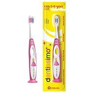 DENTISSIMO Kids, růžový - Dětský zubní kartáček